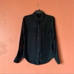Joe's Jeans Button Pocket Silk Shirt Size Small